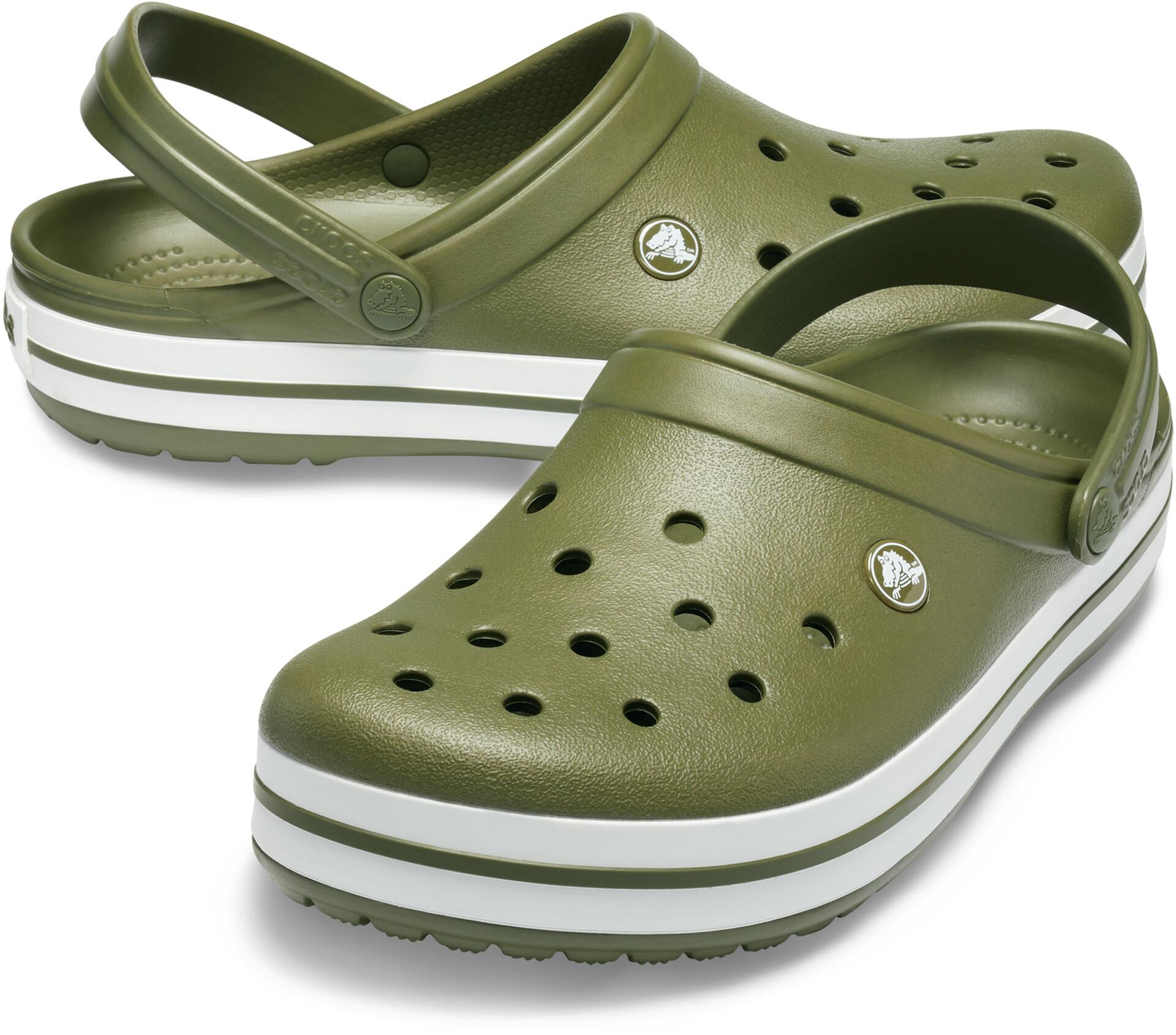 Crocs Crocband Crocs, army greenwhite